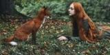 Раскрыл своего bella с лисицами в волшебные леса, портреты (Фотографии)